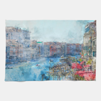 Canal Grande in Venice Italy Hand Towels