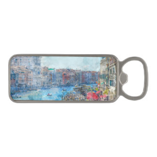 Canal Grande in Venice Italy Magnetic Bottle Opener