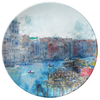Canal Grande in Venice Italy Porcelain Plate
