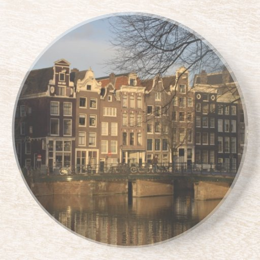 Canal houses drink coasters