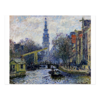 Canal in Amsterdam by Claude Monet Postcard