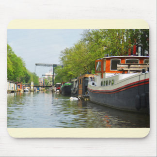 Canal in Amsterdam Mouse Pad