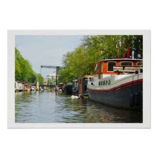 Canal in Amsterdam Poster