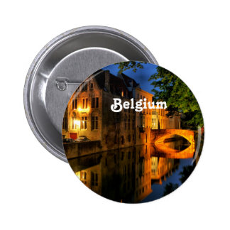 Canal in Belgium Buttons