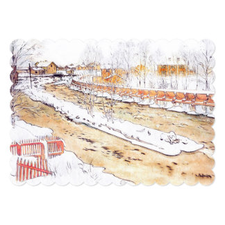 Canal in Snow Timber Chute Card