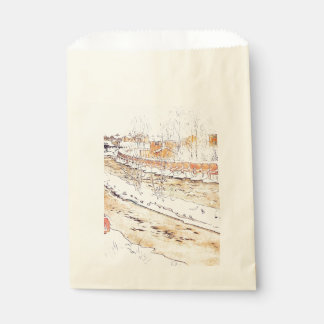 Canal in Snow Timber Chute Favour Bag