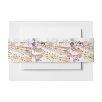 Canal in Snow Timber Chute Invitation Belly Band