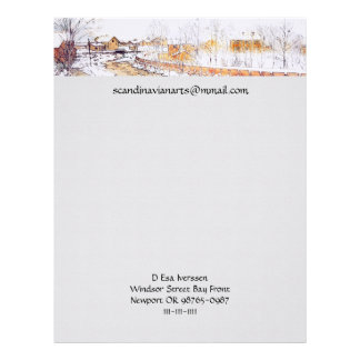Canal in Snow Timber Chute Letterhead