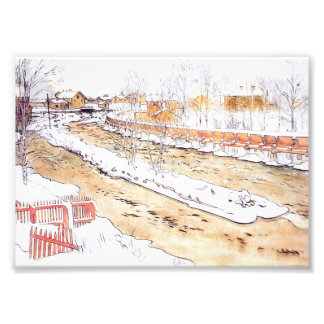 Canal in Snow Timber Chute Photo Print
