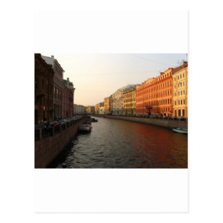 Canal in st Petersburg, Russia Postcard