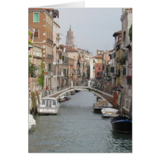 Canal in Venice, Italy Card