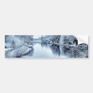 Canal in Winter Bumper Sticker