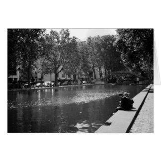 Canal St Denis, Paris, France Card