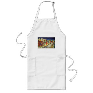 Canal Street at Night, New Orleans, Louisiana Long Apron