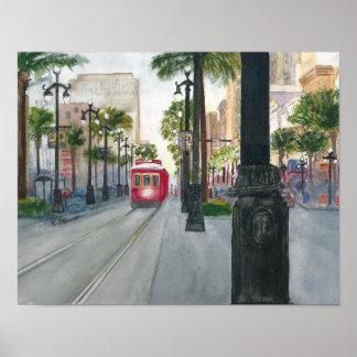 Canal Street Trolley, NOLA, Canvas Wall Decor