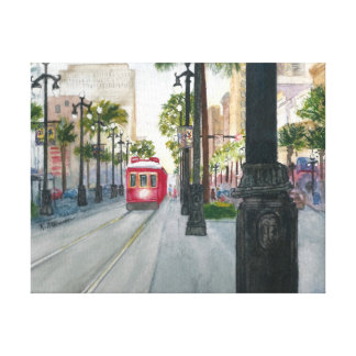 Canal Street Trolley, NOLA, Canvas Wall Decor