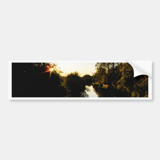 Canal Sunset Bumper Sticker