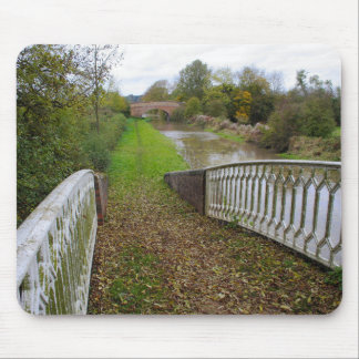 Canal Tow Path in Autumn Mouse Pad