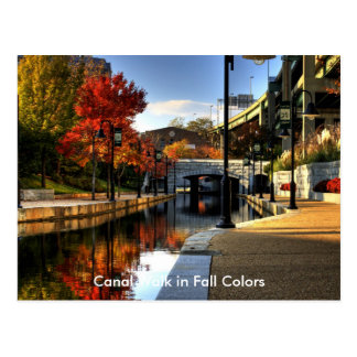 Canal Walk in Fall Colors Postcard
