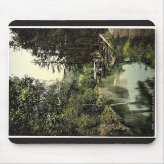 Canal walk, Llangollen, Wales rare Photochrom Mouse Pad