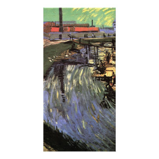 Canal with Women Washing by Vincent van Gogh Photo Greeting Card