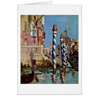 Canale Grande In Venice By Edouard Manet Card