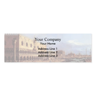 Canaletto- Riva degli Schiavoni: Looking East Business Card Templates