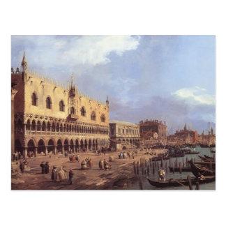 Canaletto- Riva degli Schiavoni: Looking East Postcard