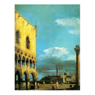 Canaletto- The Piazzet Looking South Postcard