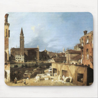 Canaletto,The Stonemason's Yard. Mouse Pad