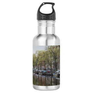 Canals in Amsterdam, Holland 532 Ml Water Bottle