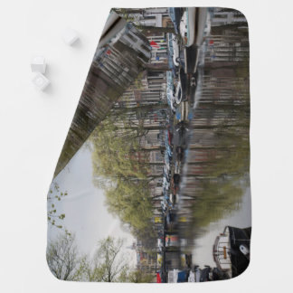 Canals in Amsterdam, Holland Baby Blankets