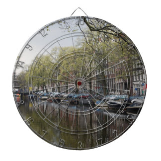 Canals in Amsterdam, Holland Dartboard