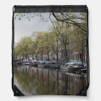 Canals in Amsterdam, Holland Drawstring Bag