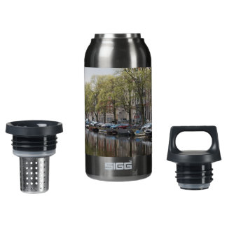 Canals in Amsterdam, Holland Insulated Water Bottle