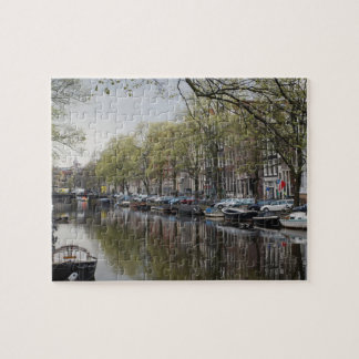 Canals in Amsterdam, Holland Jigsaw Puzzle