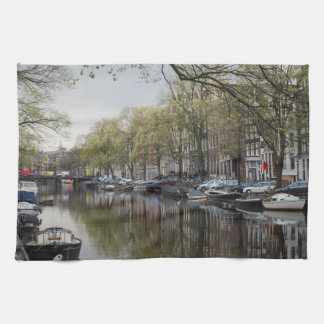 Canals in Amsterdam, Holland Kitchen Towel