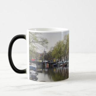 Canals in Amsterdam, Holland Magic Mug