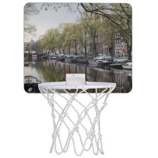 Canals in Amsterdam, Holland Mini Basketball Backboard