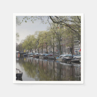Canals in Amsterdam, Holland Paper Napkins