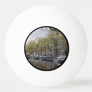 Canals in Amsterdam, Holland Ping Pong Ball