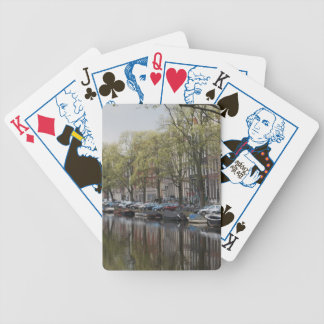 Canals in Amsterdam, Holland Poker Deck