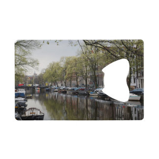Canals in Amsterdam, Holland Wallet Bottle Opener