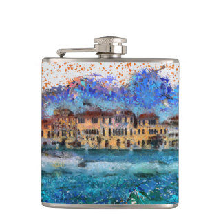 Canals in Venice Hip Flask