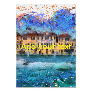 Canals in Venice Magnetic Invitations
