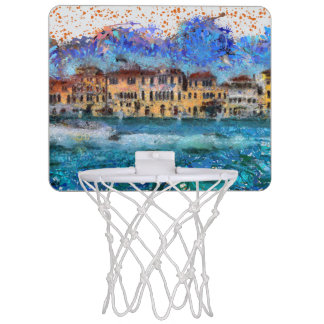 Canals in Venice Mini Basketball Hoop