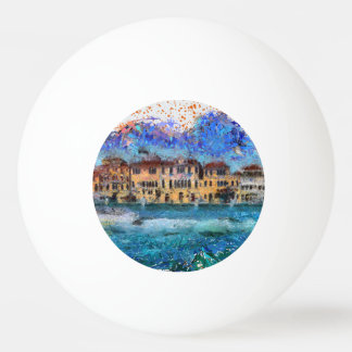 Canals in Venice Ping Pong Ball
