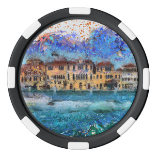 Canals in Venice Poker Chips