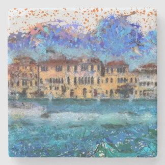 Canals in Venice Stone Coaster
