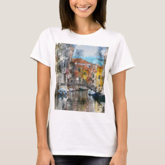 Canals of Venice Italy Watercolor T-Shirt